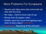 more problems for europeans