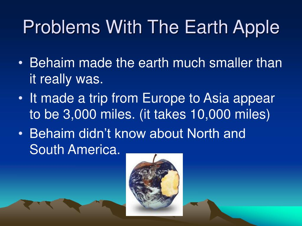 Problems With The Earth Apple