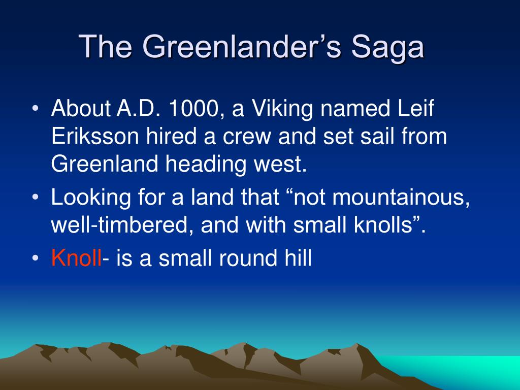 The Greenlander's Saga