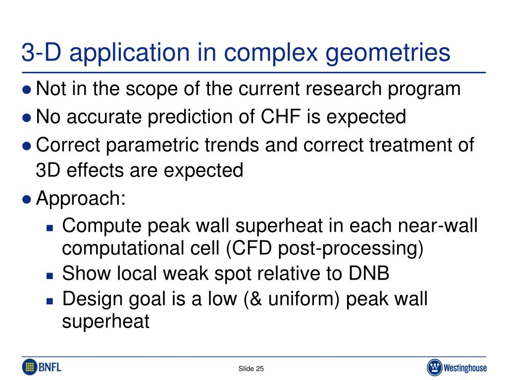 3-D application in complex geometries