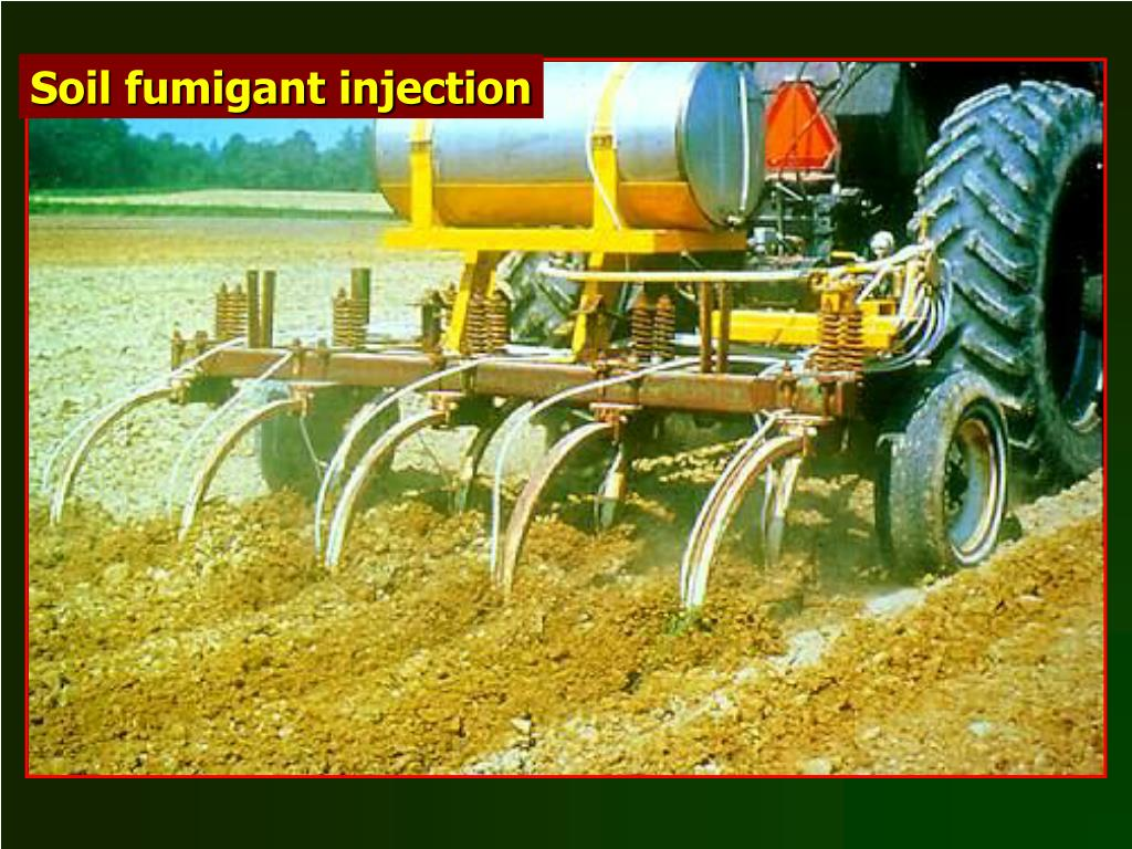 Soil fumigant injection