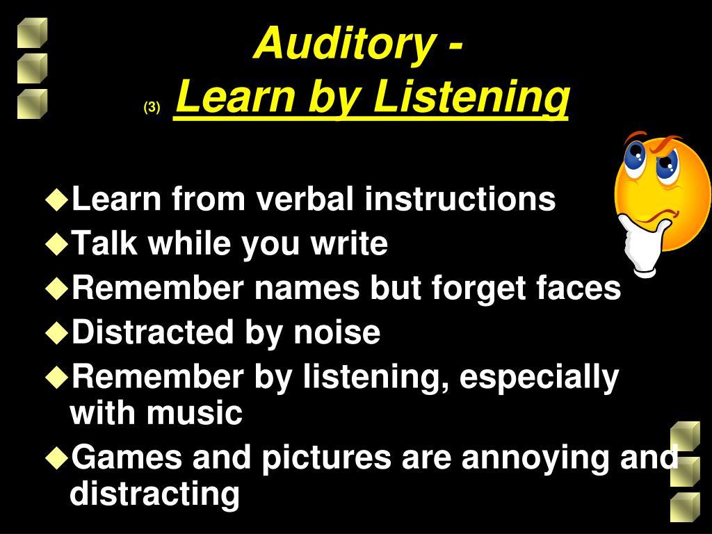 Auditory -