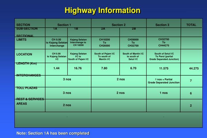 Highway Information