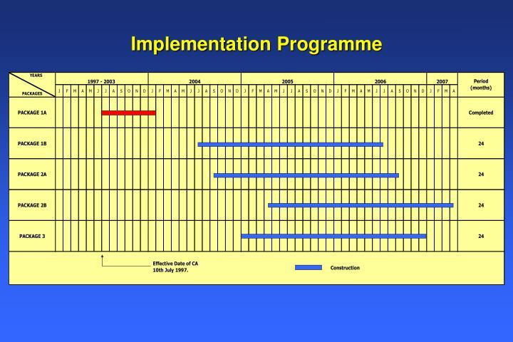 Implementation Programme