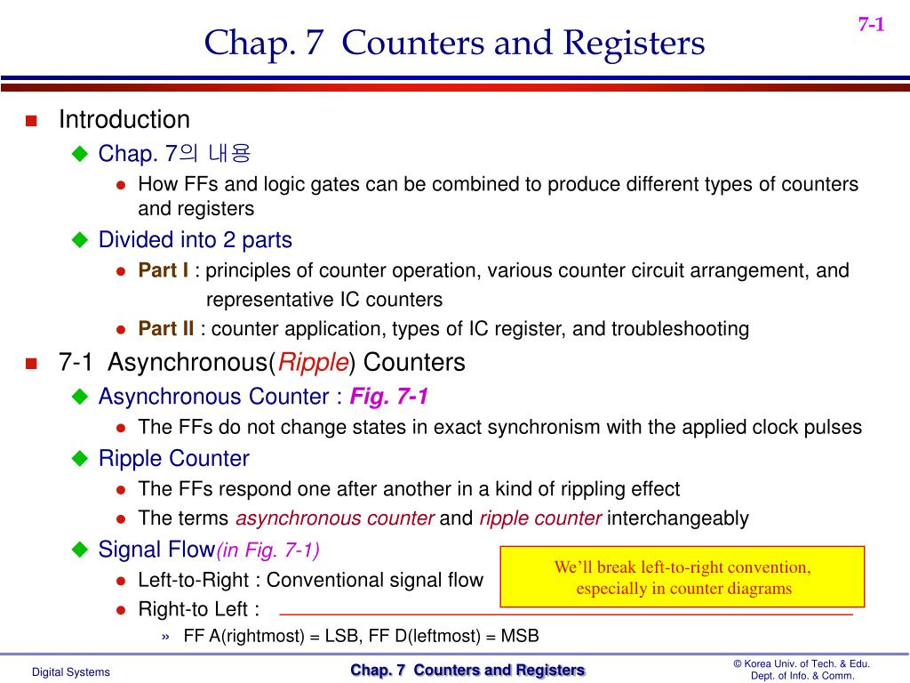 Chap. 7  Counters and Registers
