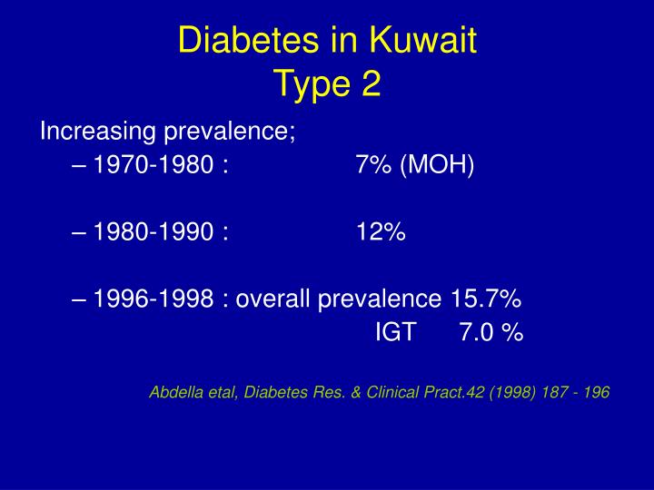 Diabetes in kuwait type 2