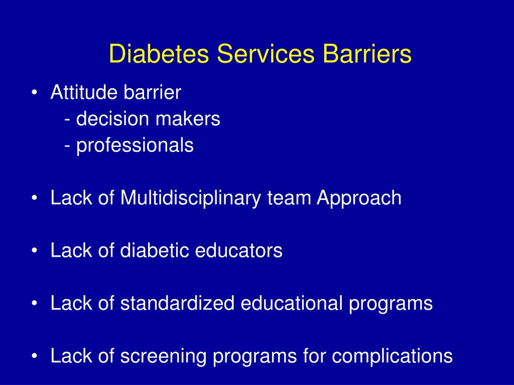Diabetes Services Barriers