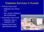 diabetes services in kuwait