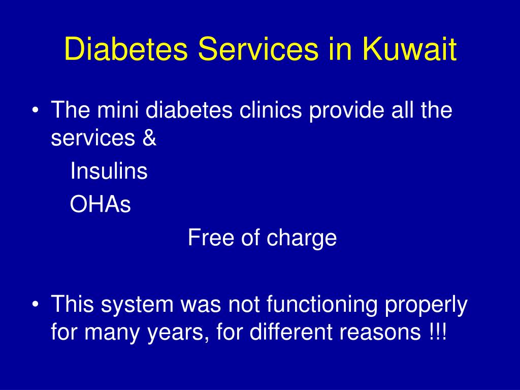 Diabetes Services in Kuwait