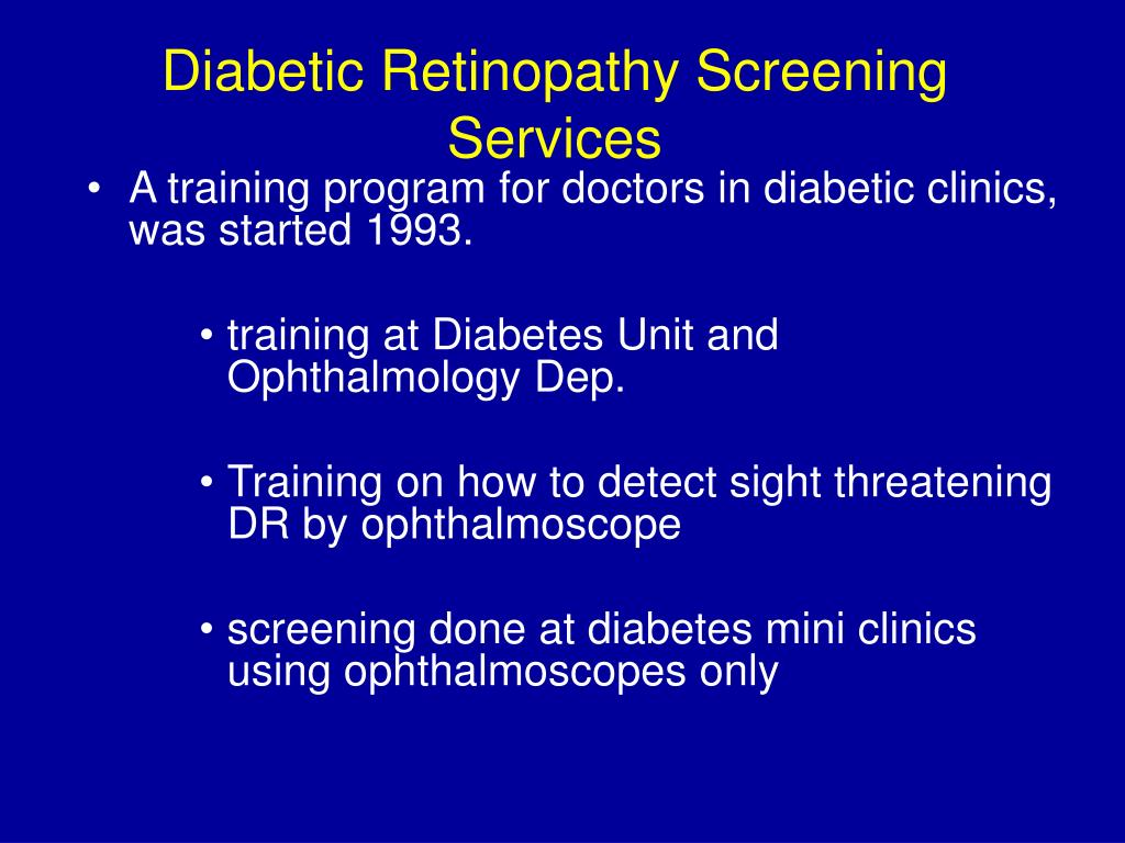 Diabetic Retinopathy Screening Services