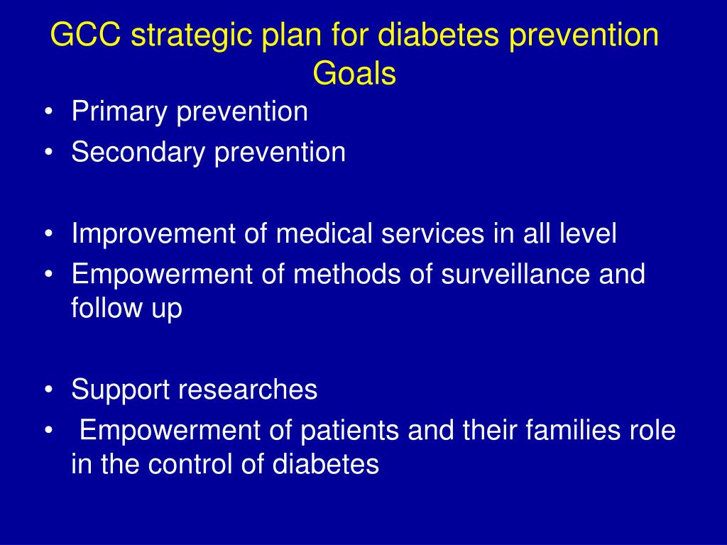 GCC strategic plan for diabetes prevention