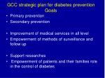 gcc strategic plan for diabetes prevention goals