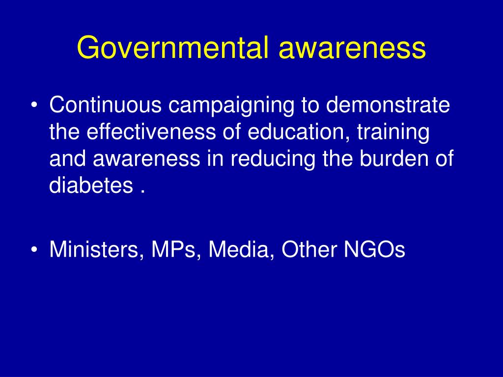 Governmental awareness