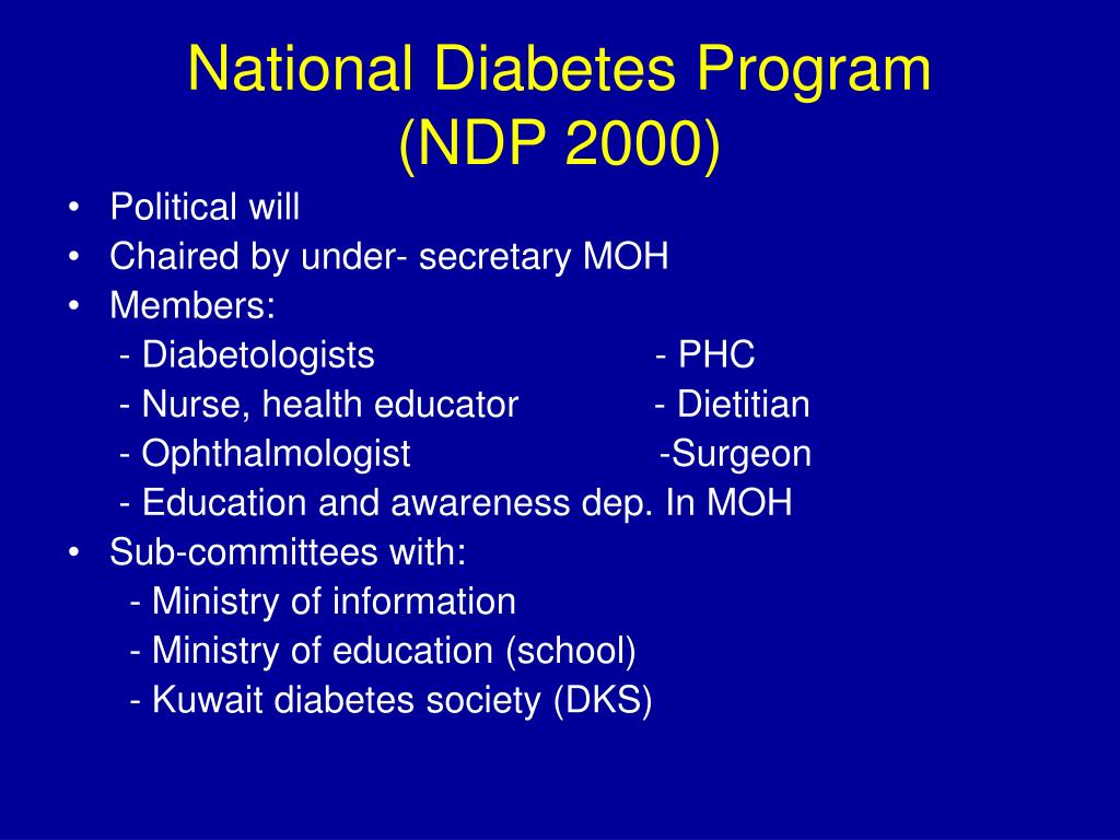 National Diabetes Program