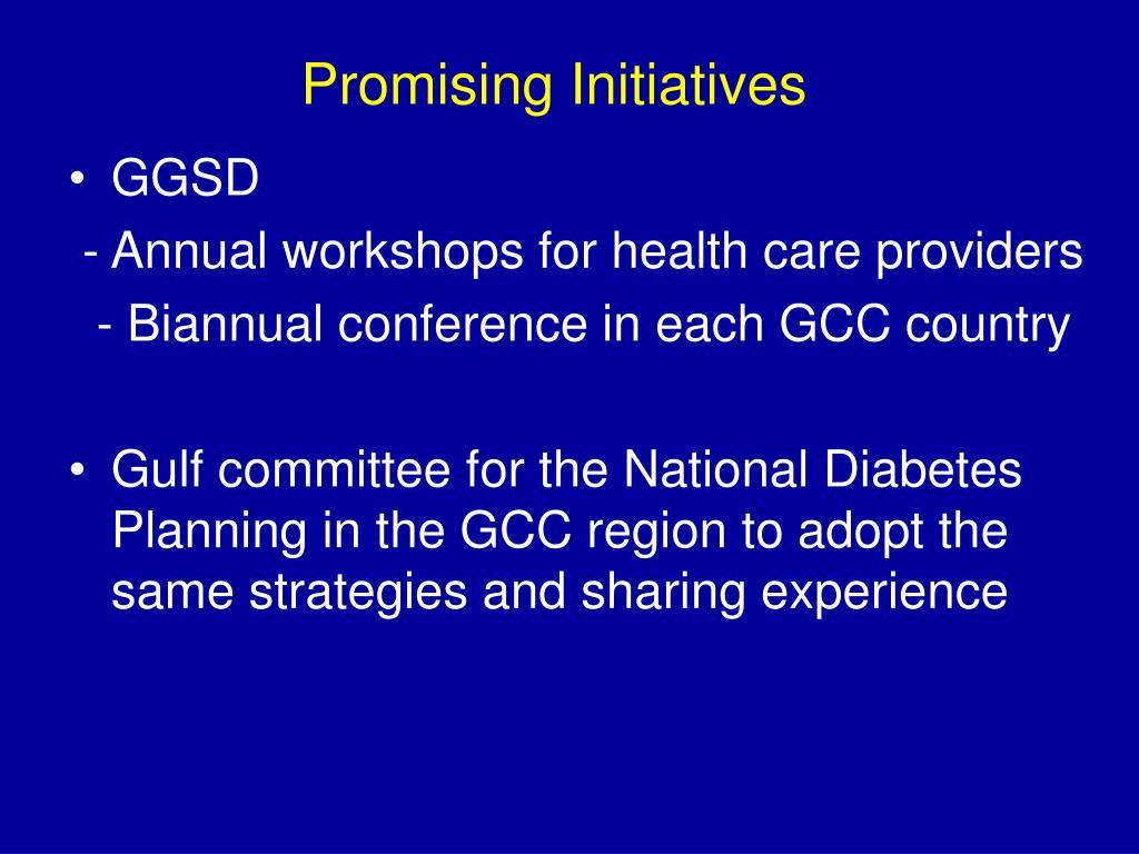 Promising Initiatives