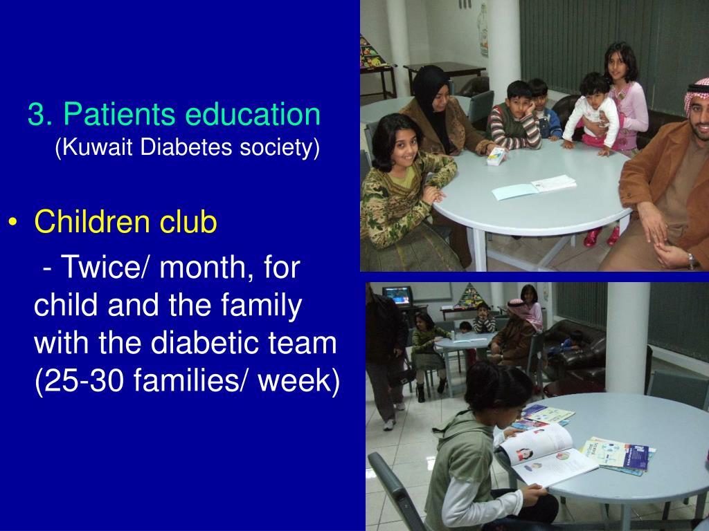 3. Patients education