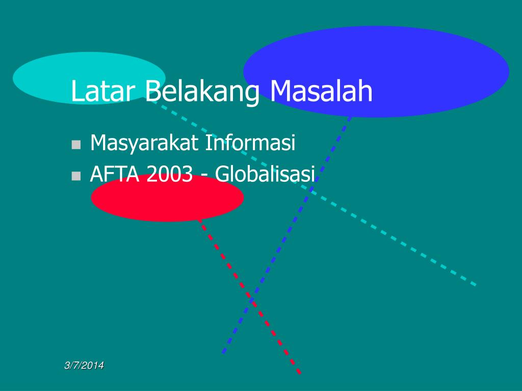 Latar Belakang Masalah