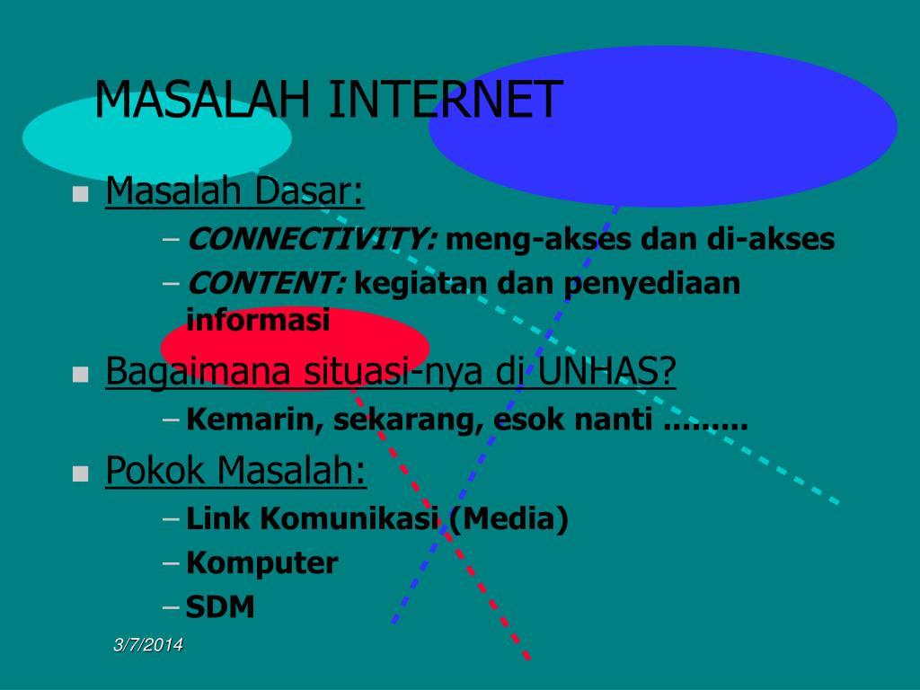MASALAH INTERNET