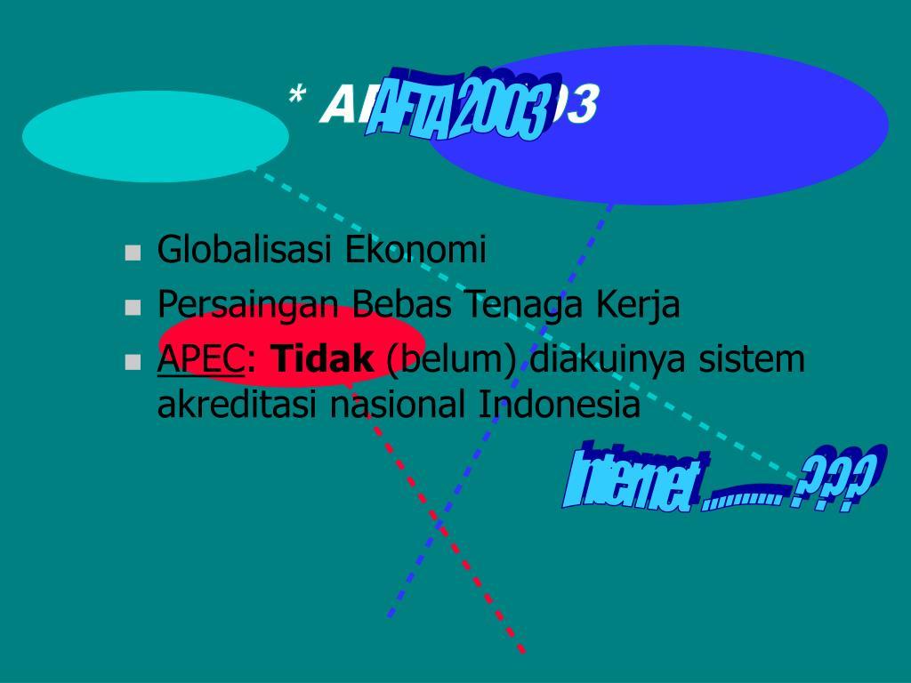 AFTA 2003