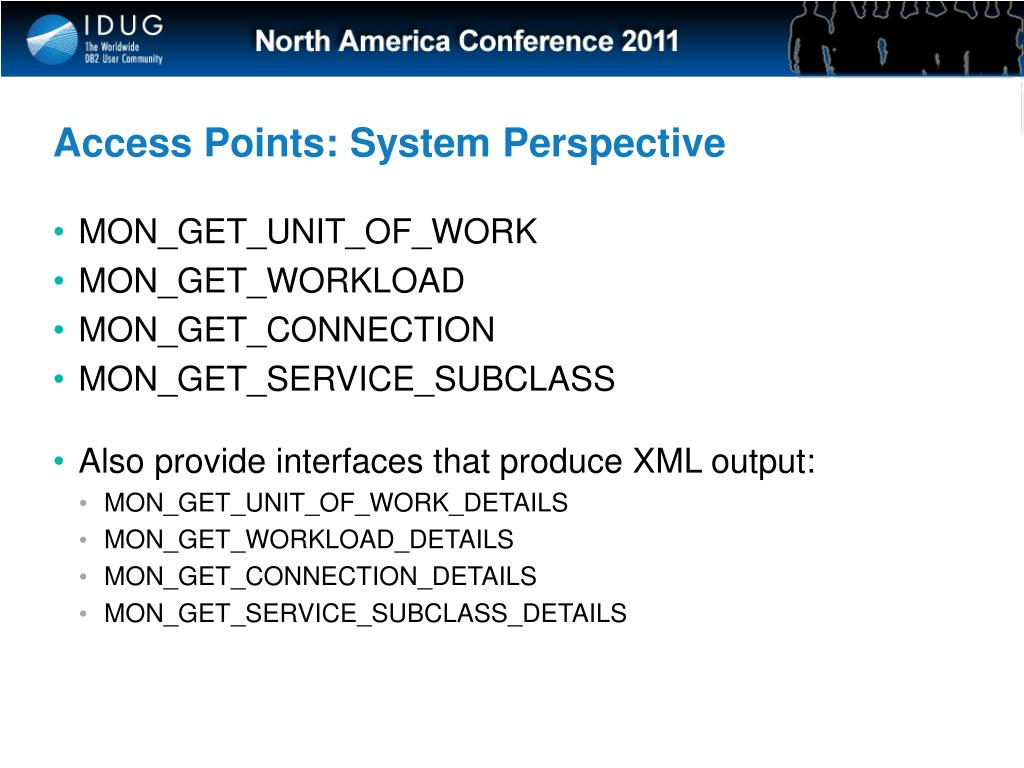 Access Points: System Perspective