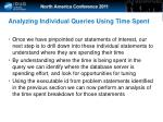 analyzing individual queries using time spent