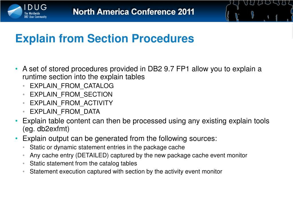 Explain from Section Procedures