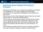 identifying query related performance problems22