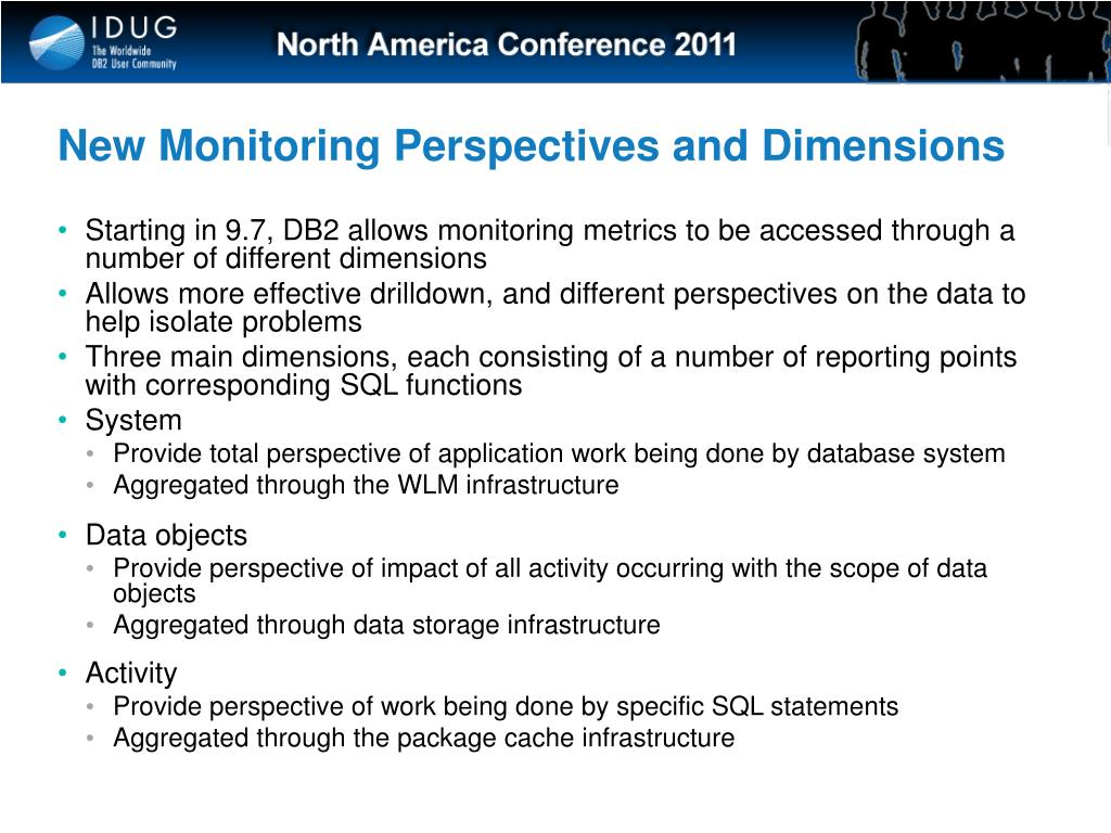 New Monitoring Perspectives and Dimensions