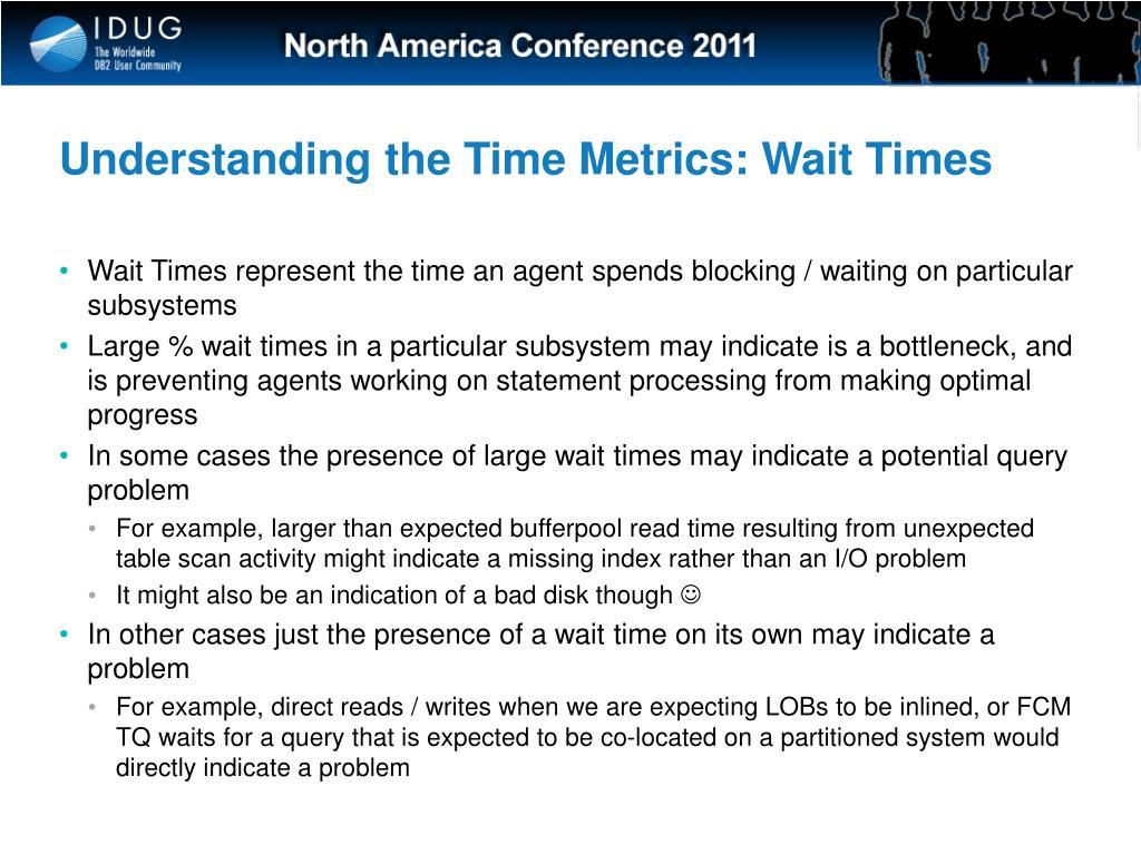 Understanding the Time Metrics: Wait Times