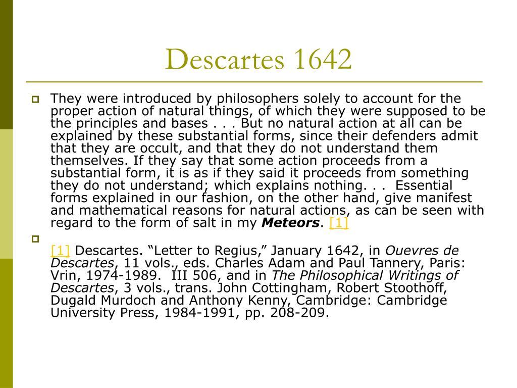 Descartes 1642