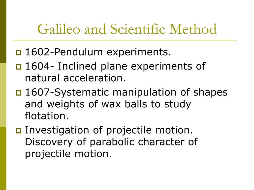 Galileo and Scientific Method