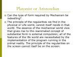platonist or aristotelian