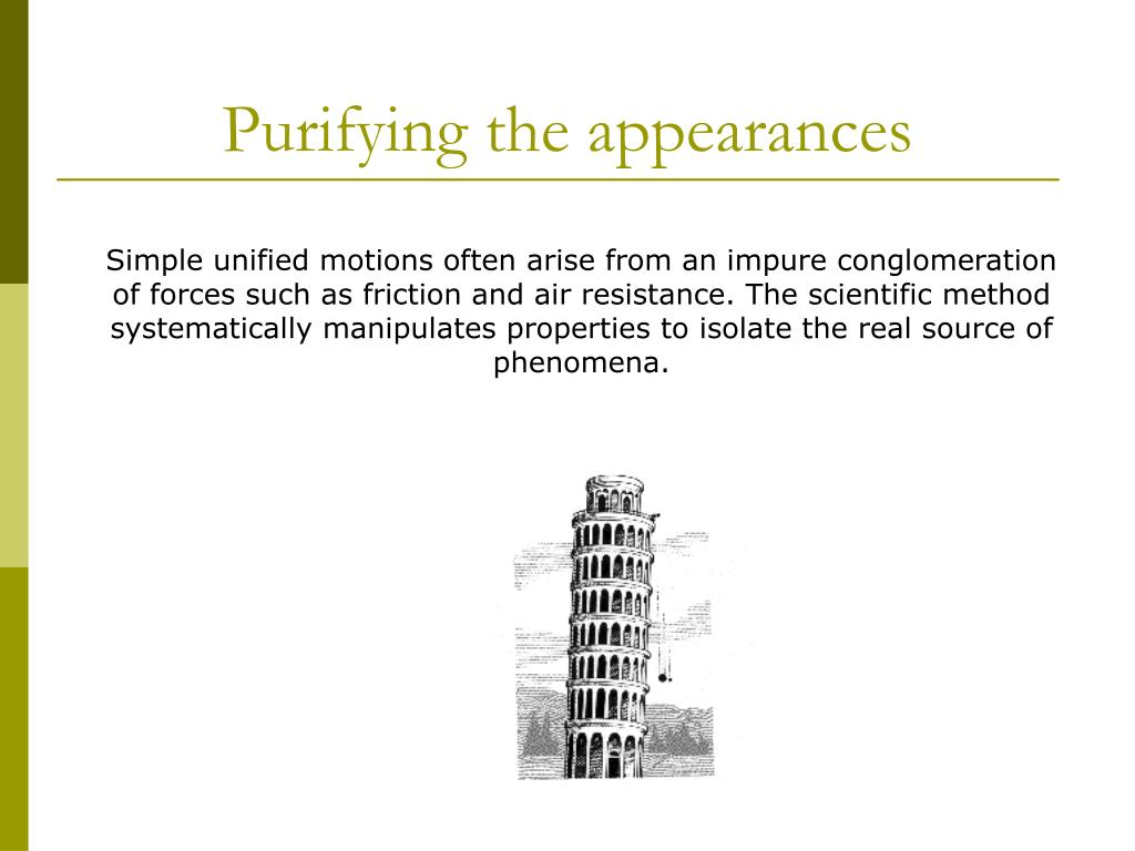 Purifying the appearances
