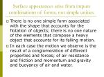 surface appearances arise from impure combinations of forms not simple unities