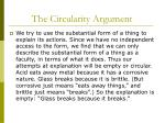the circularity argument