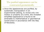 the purified appearances can be constructed geometrically