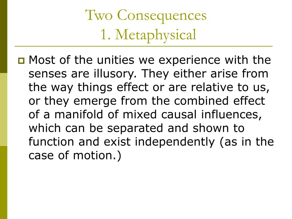 Two Consequences