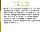 two consequences 1 metaphysical