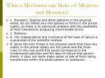 what a mechanist can make of mixtions and monsters