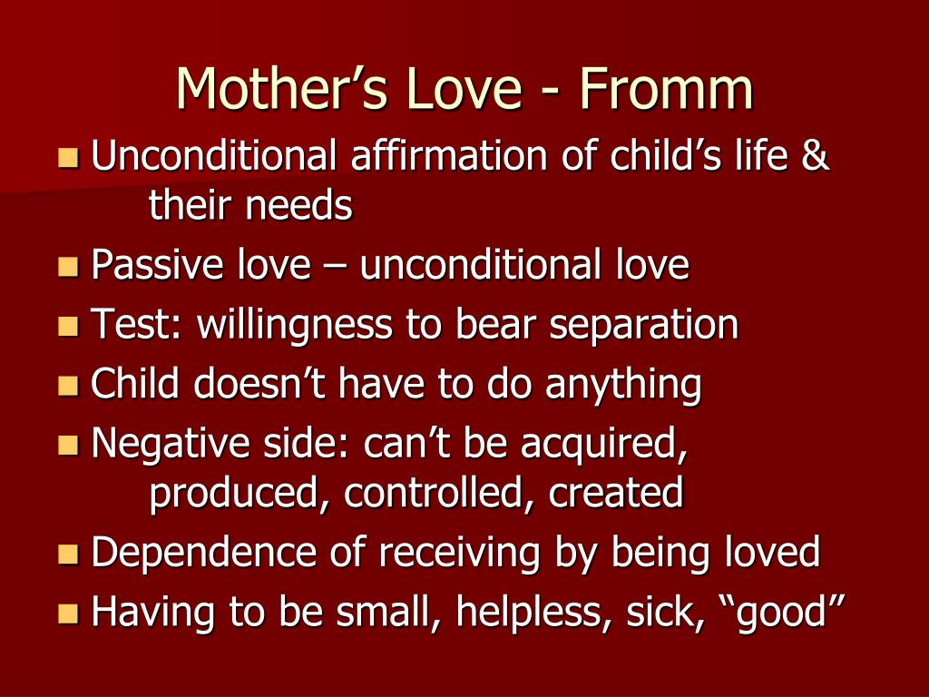 Mother's Love - Fromm
