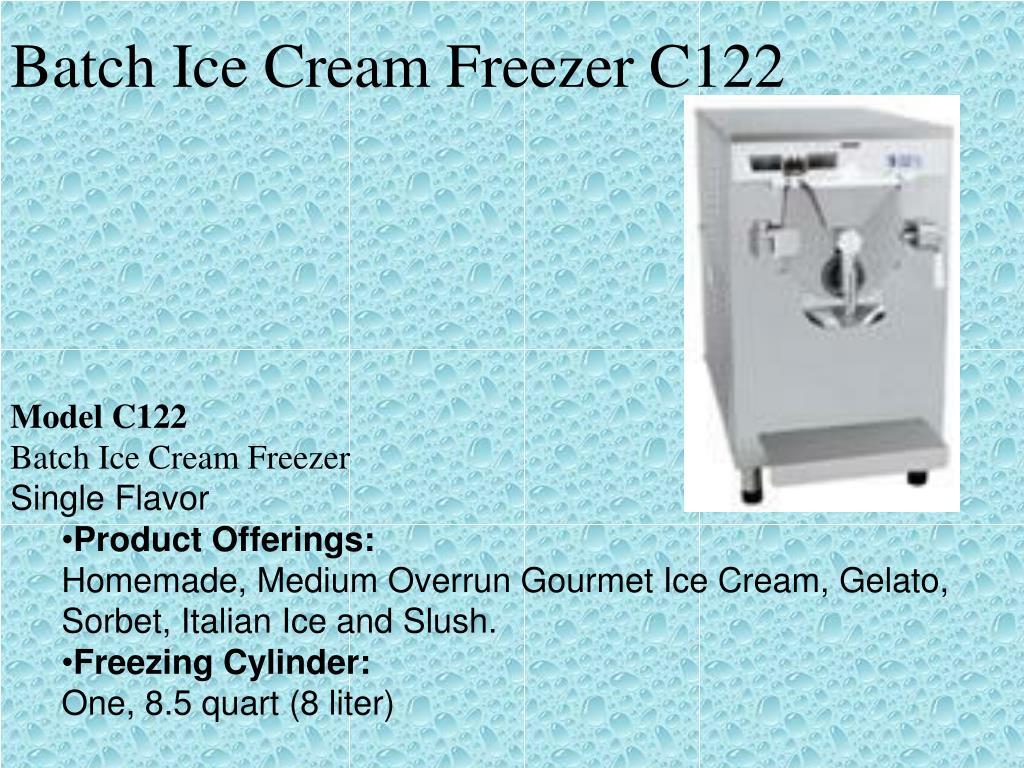 Batch Ice Cream Freezer C122