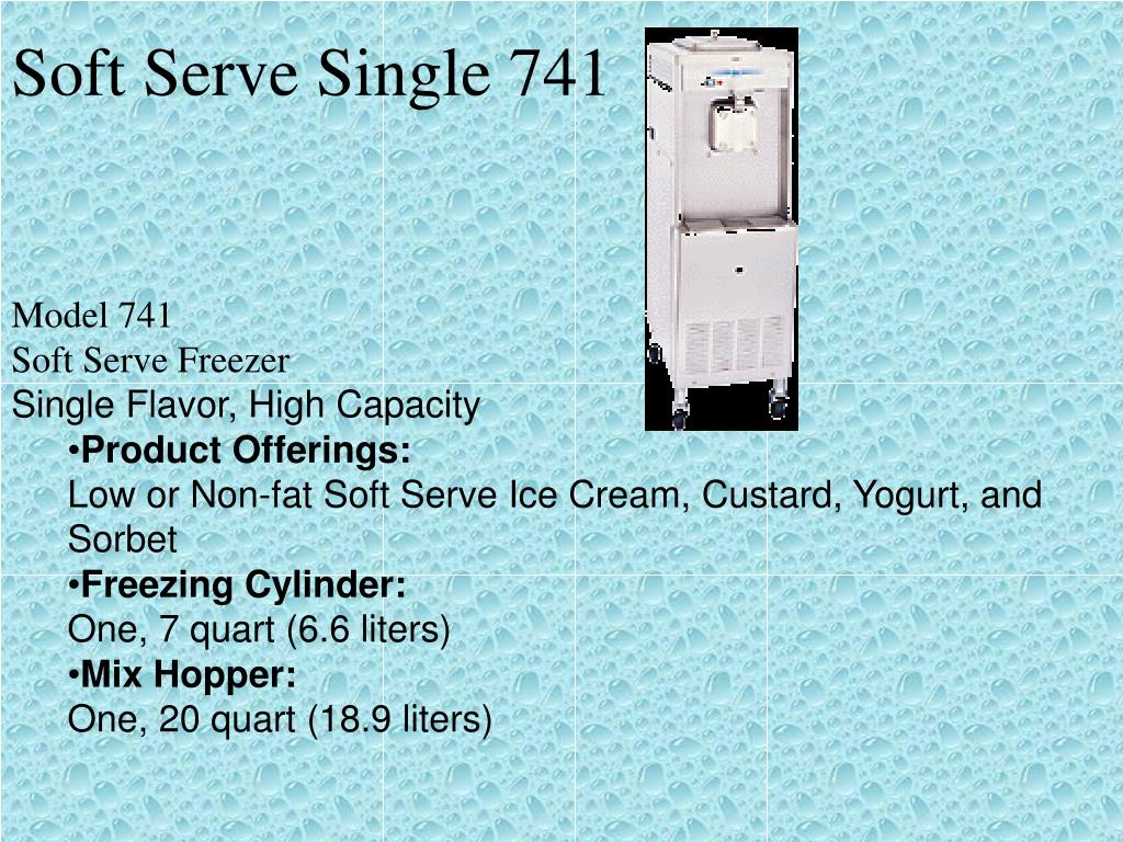 Soft Serve Single 741