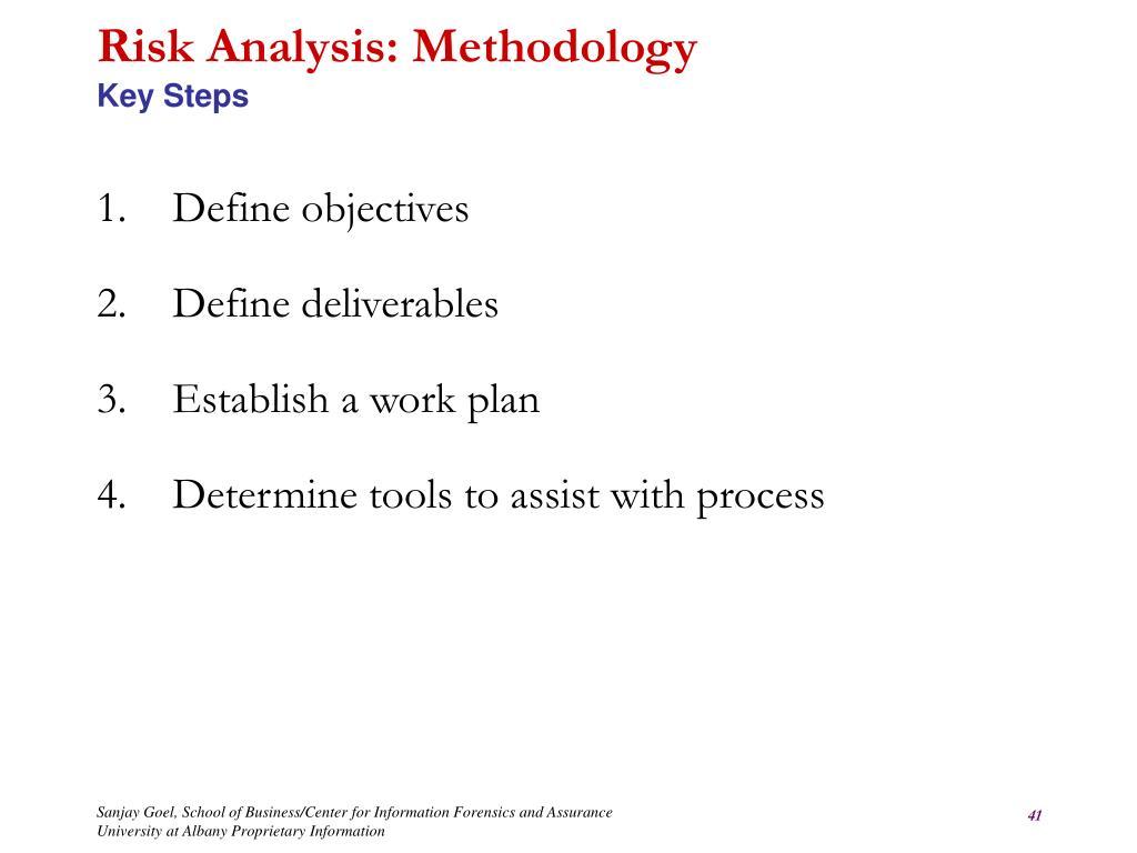 Risk Analysis: Methodology