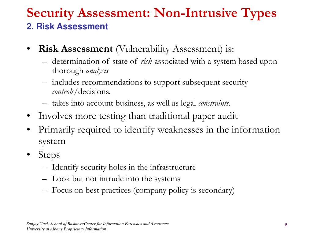 Security Assessment: Non-Intrusive Types
