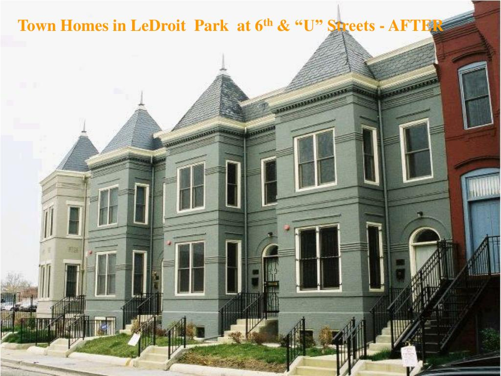 Town Homes in LeDroit  Park  at 6