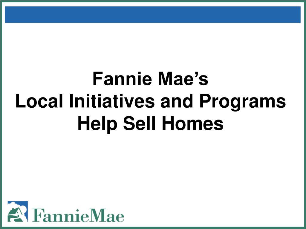 Fannie Mae's