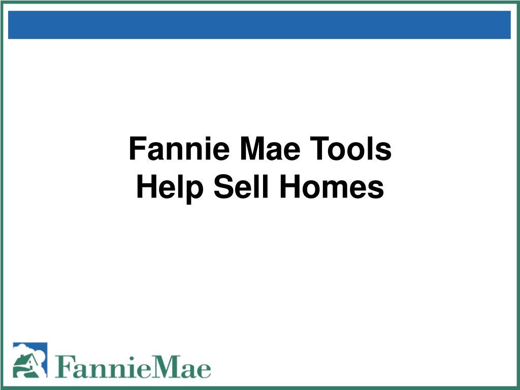 Fannie Mae Tools