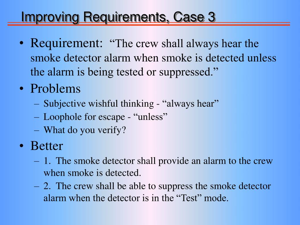 Improving Requirements, Case 3