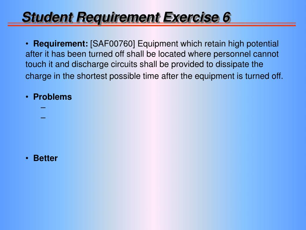 Student Requirement Exercise 6