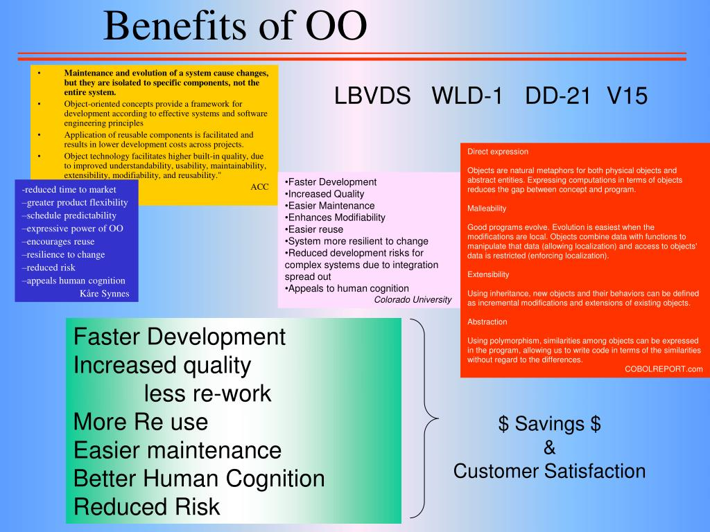 Benefits of OO